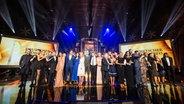 Das Finale mit allen Teilnehmern beim Deutschen Radiopreis 2018. © Deutscher Radiopreis / Philipp Szyza Foto: Philipp Szyza