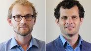 Philipp Eckstein und Benedikt Strunz von NDR Info © NDR / Carolin Fromm Foto: Carolin Fromm