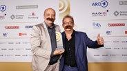 Robert Skuppin und Rolf Kunz von radioeins (rbb) © Deutscher Radiopreis / Morris Mac Matzen Foto: Morris Mac Matzen
