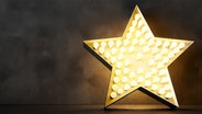 Ein Stern aus Glühbirnen © fotolia..com Fotograf: sowanna